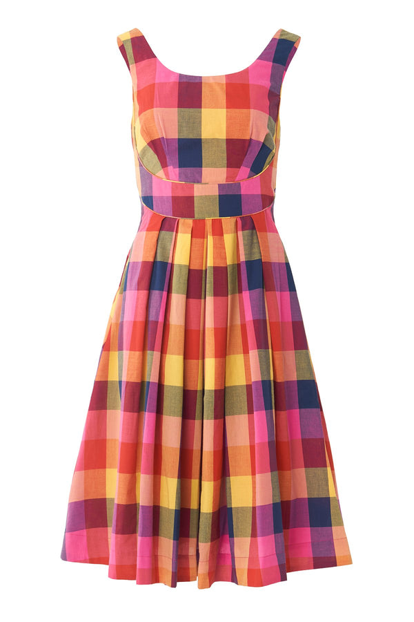 Emily and Fin Isobel Dress Sunset Plaid PRE-ORDER