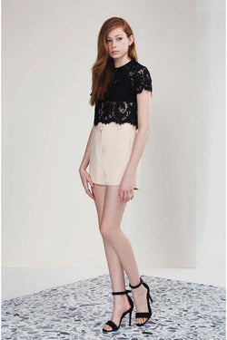 Keepsake Let It Happen Lace Top Black