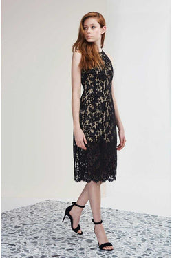 Keepsake Let It Happen Lace Dress Black
