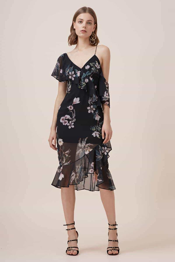 Keepsake Cosmic Girl Dress Dark Garden Floral