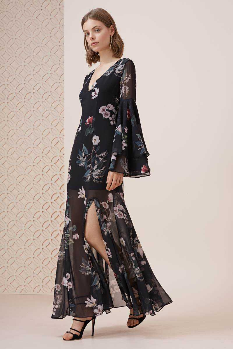 Keepsake Cosmic Girl Maxi Dress Dark Garden Floral
