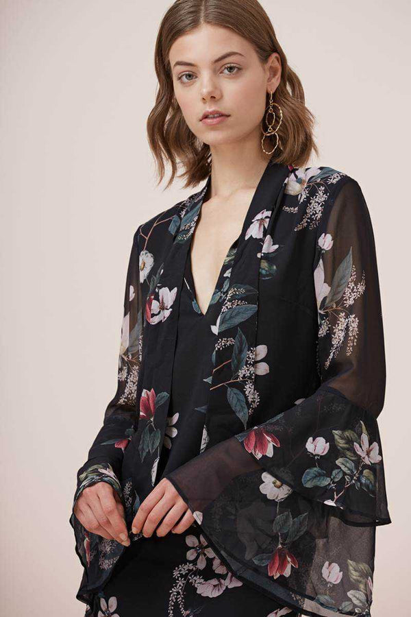 Keepsake Cosmic Girl LS Top Dark Garden Floral