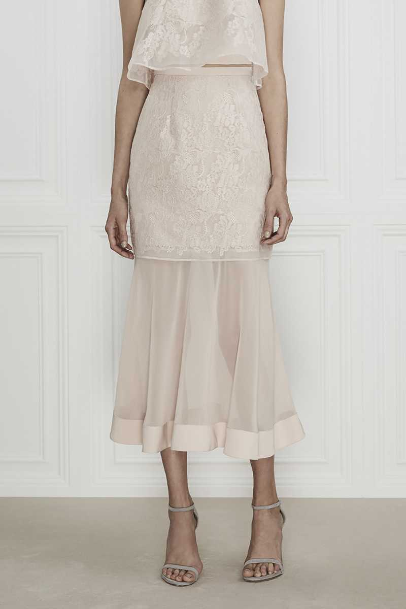 Keepsake Sundream Lace Skirt Pink