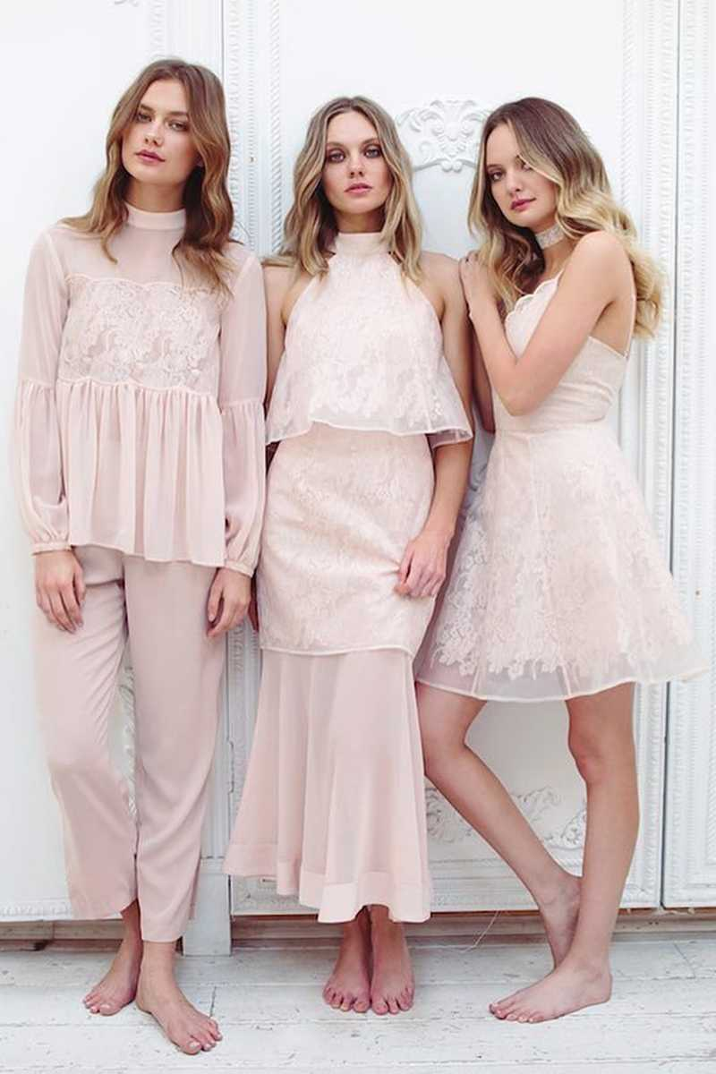 Keepsake Sundream Lace Sheer Skirt Pink
