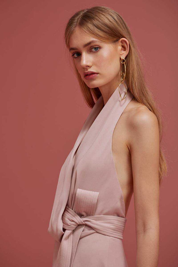 Keepsake No Limits Midi Dress Blush