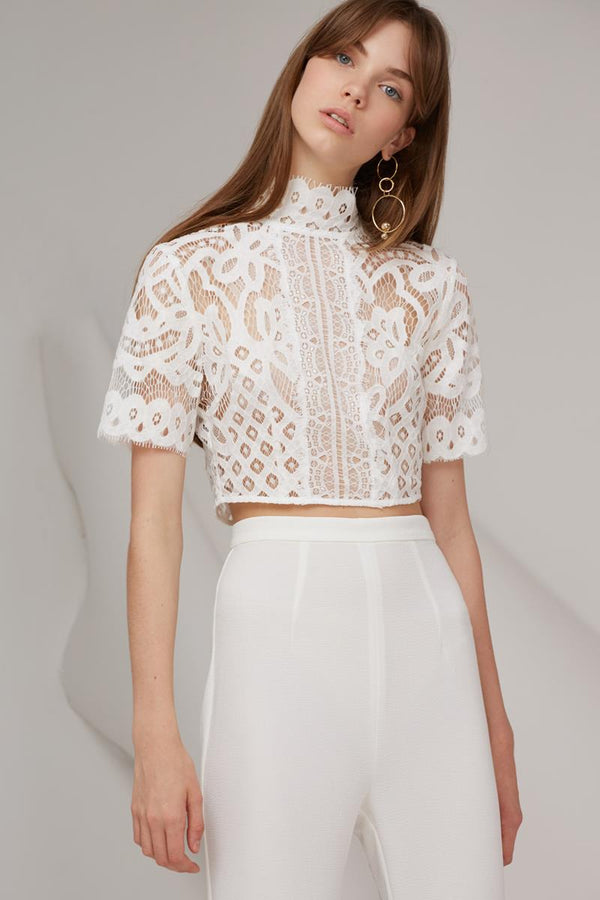 Keepsake Bridges Lace Top Ivory
