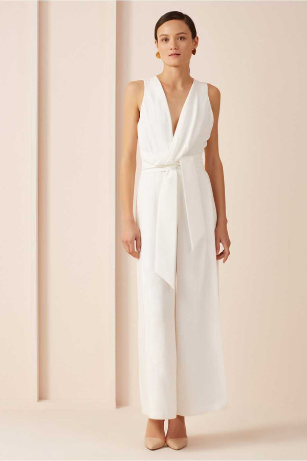 Keepsake Meadows Jumpsuit Ivory