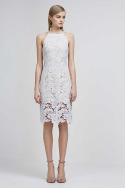 Keepsake Lonely Lover Lace Dress Oyster