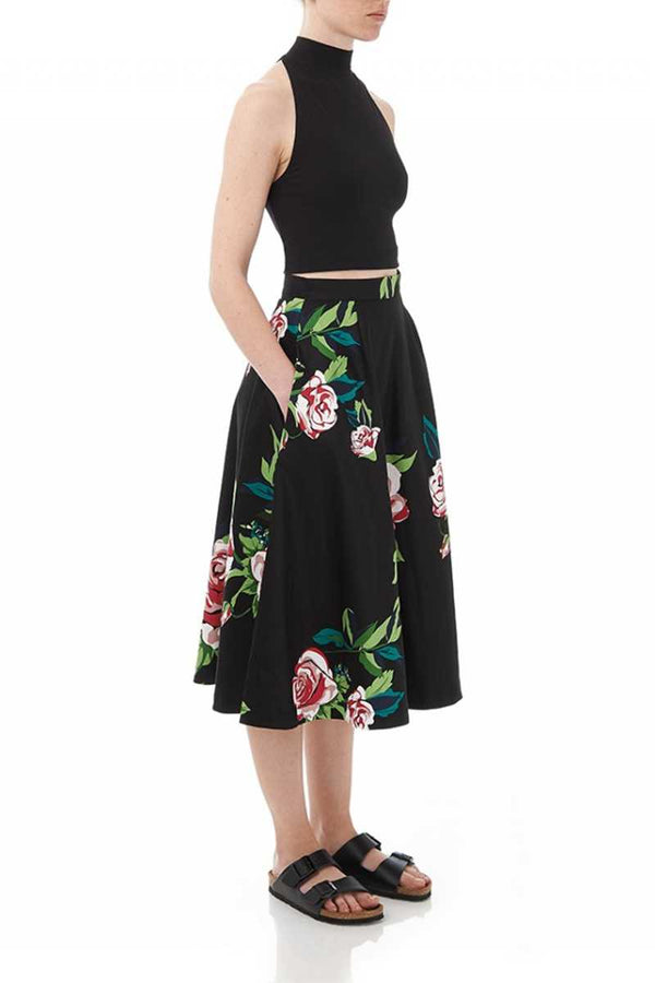 Louche London Raleri Floral Skater Skirt