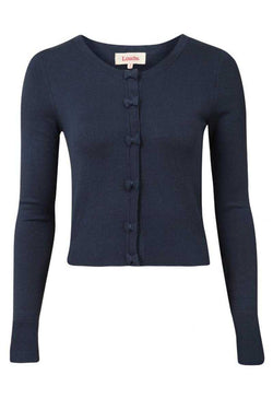 Louche London Ivy Cardi with Bow Navy