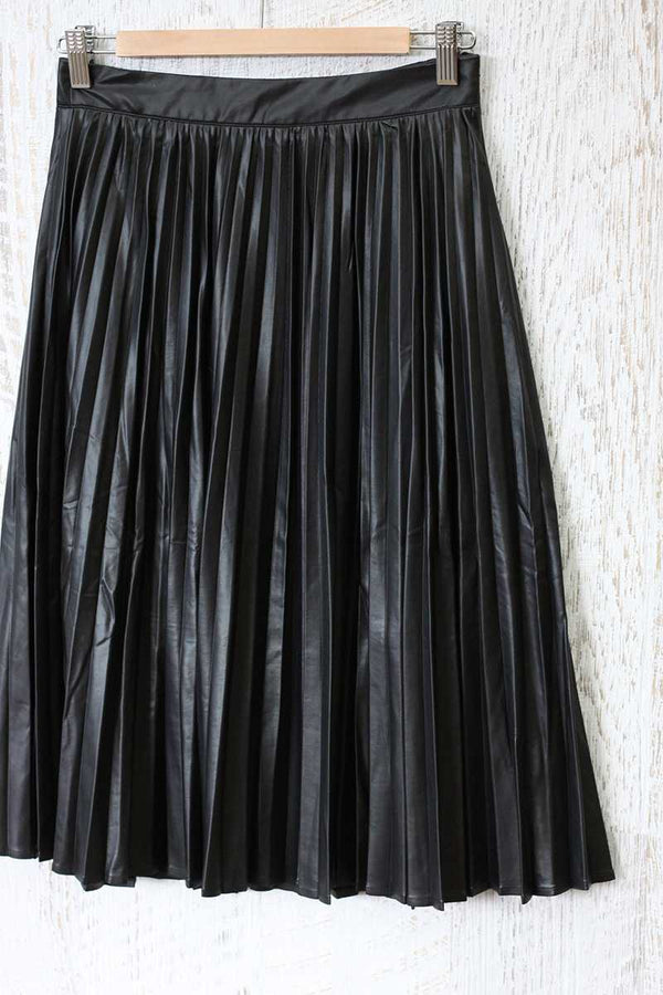 Lucy Paris Tasha Shiny Pleat Skirt