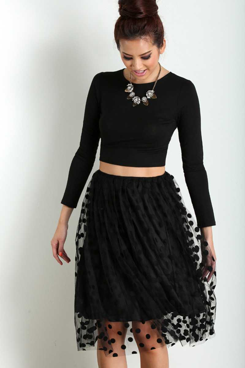Lucy Paris Sophie Dot Tulle Skirt