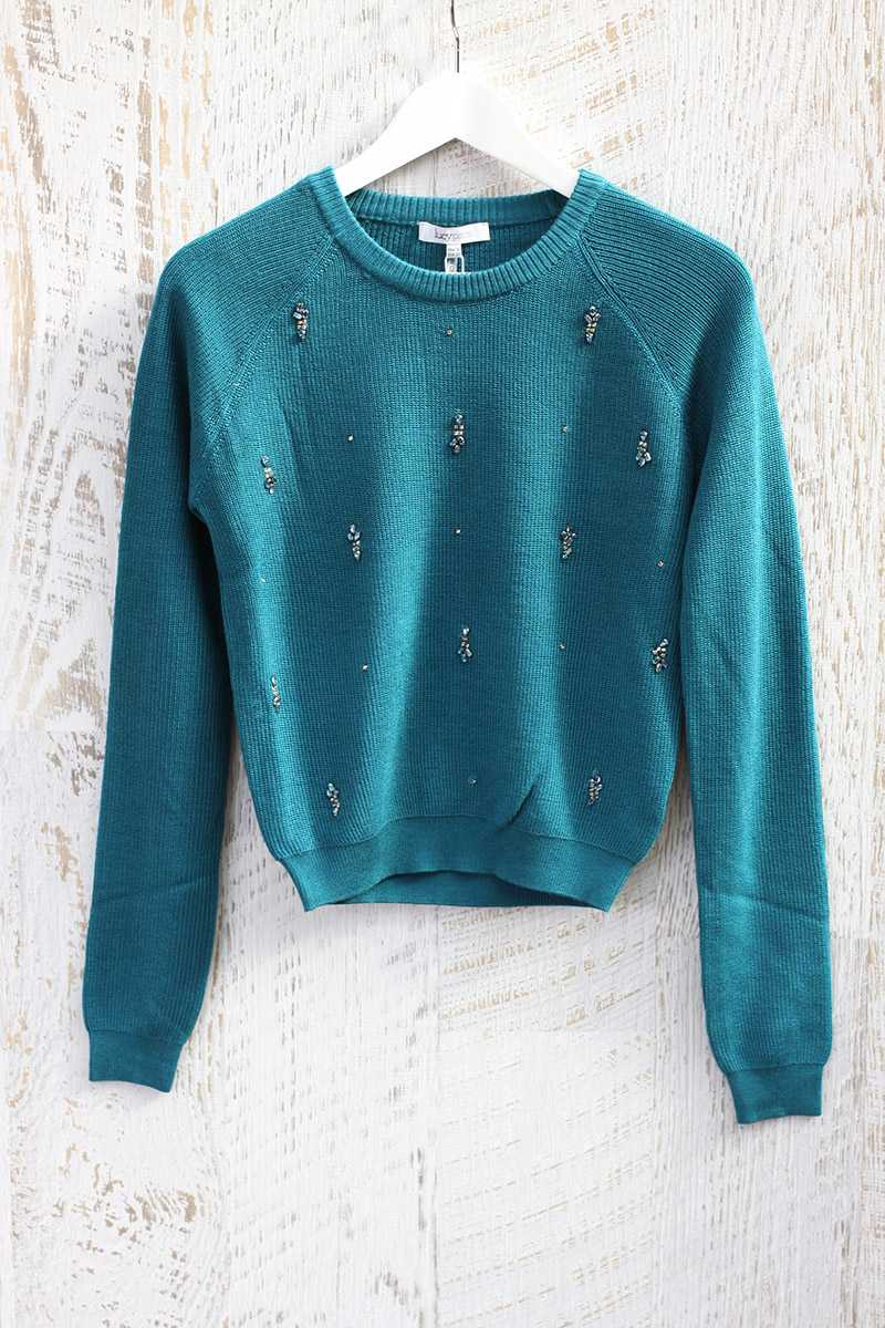 Lucy Paris Dale Beaded Sweater