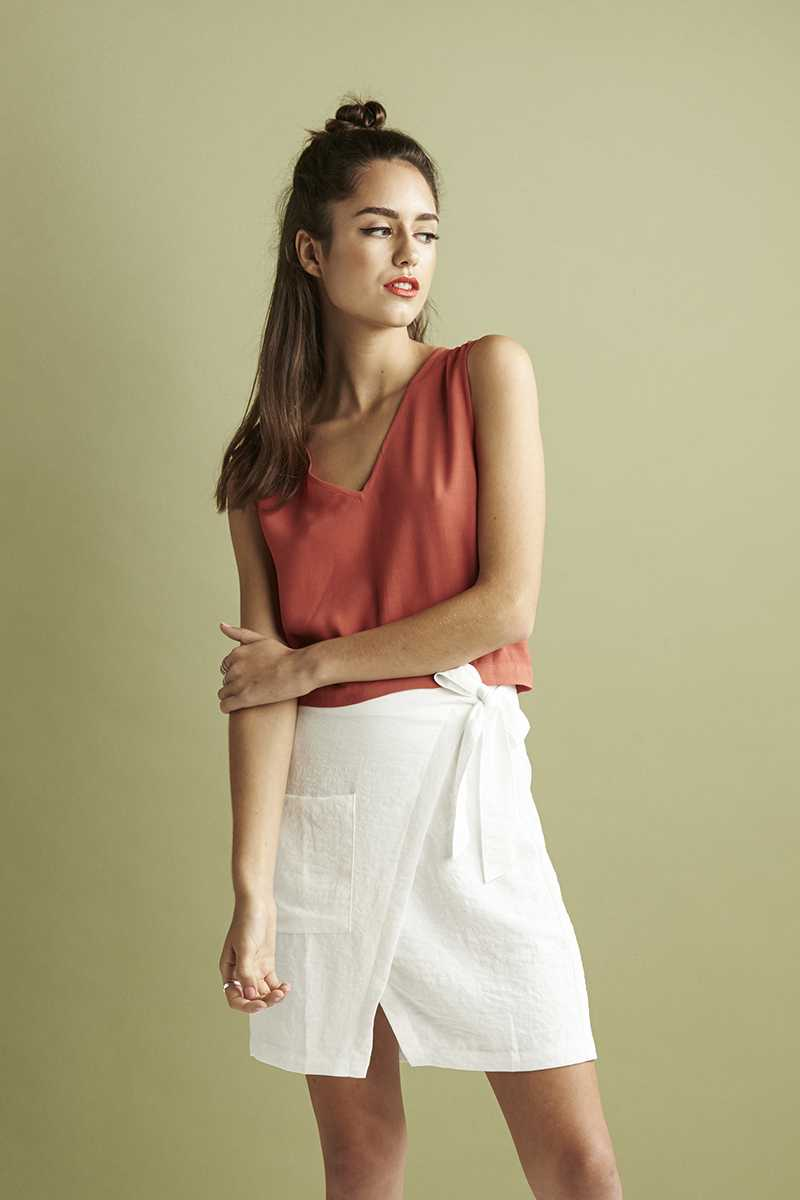 Lulu & Rose Norwood Wrap Skirt