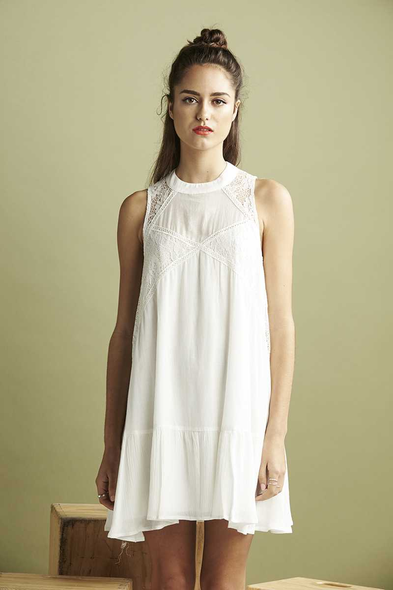 Lulu & Rose Milkwood Lace Trim Dress