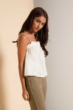 Lulu & Rose Worthy Gathered Cami Cream