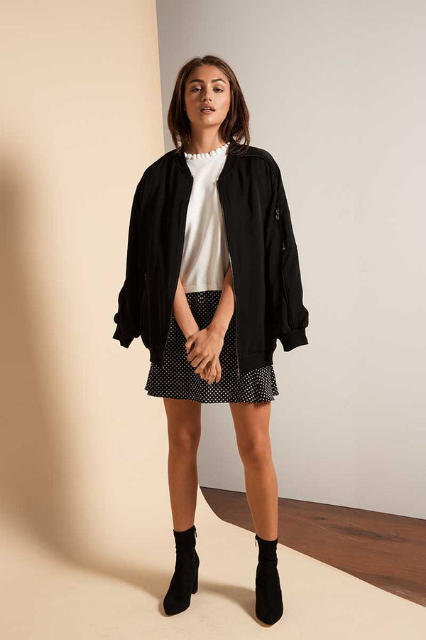 Lulu & Rose Shangrila Longer Bomber Jacket