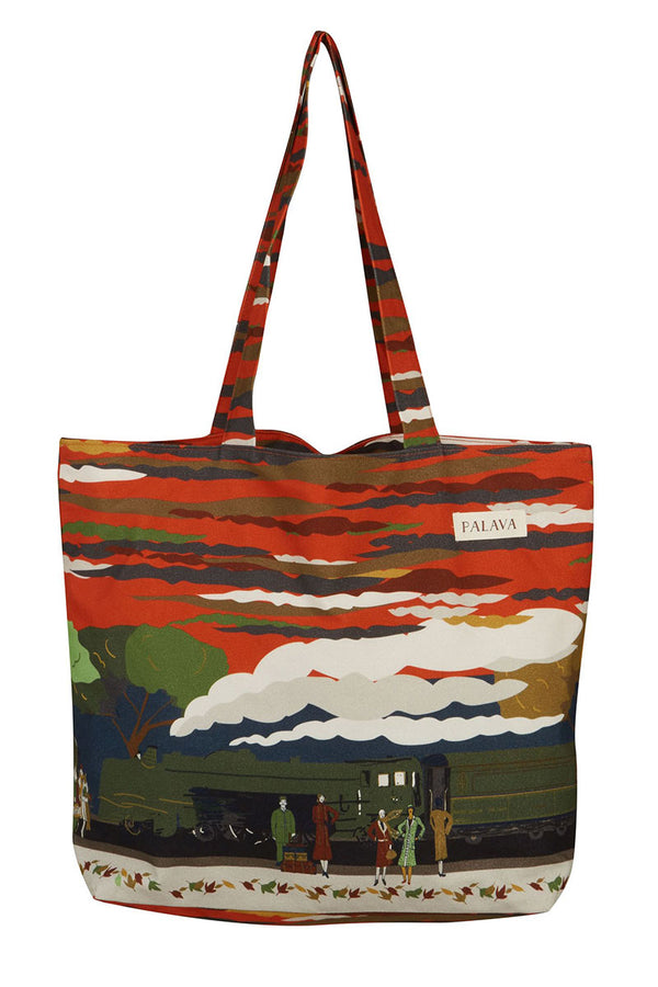 Palava Large Shopper Bag Burnt Orange Flying Scotsman