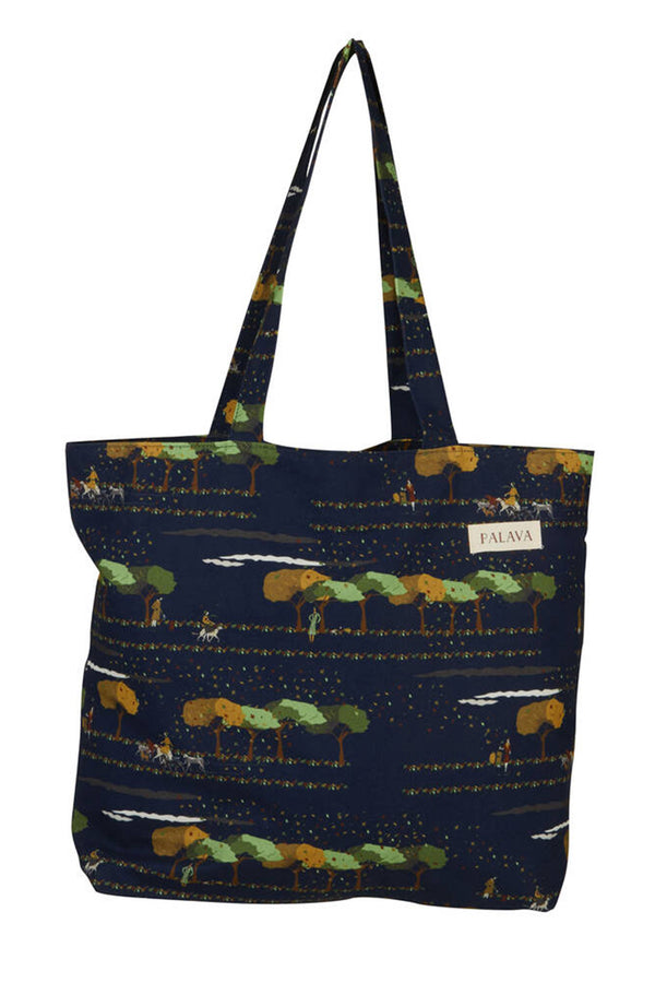 Palava Large Shopper Bag Navy The Dog Concierge