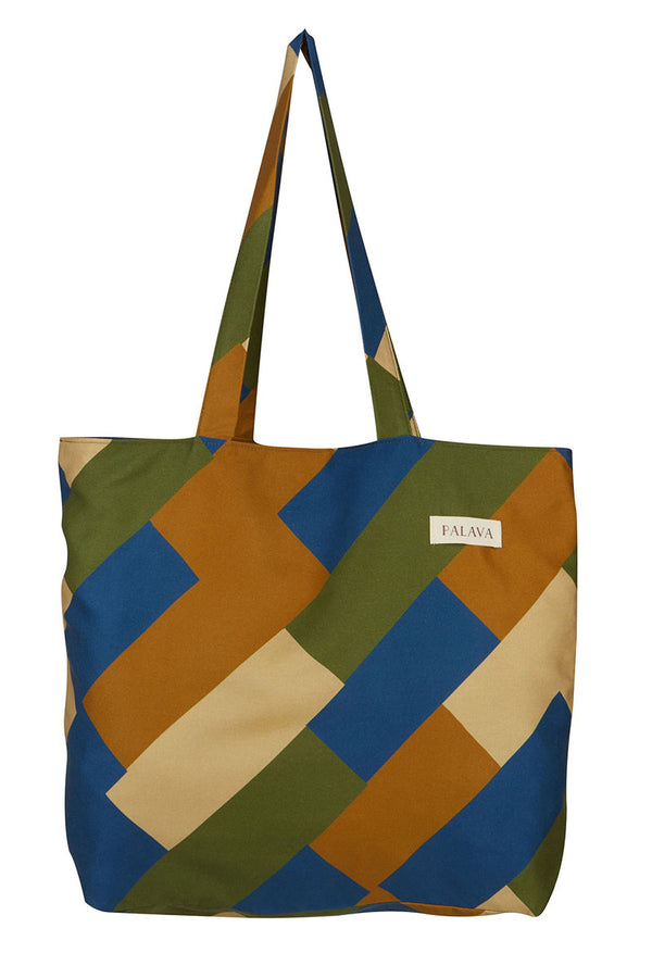 Palava Large Shopper Bag Multi Green Bauhaus