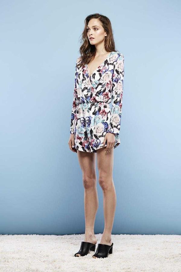 May the Label Starlight Playsuit Camelia Print