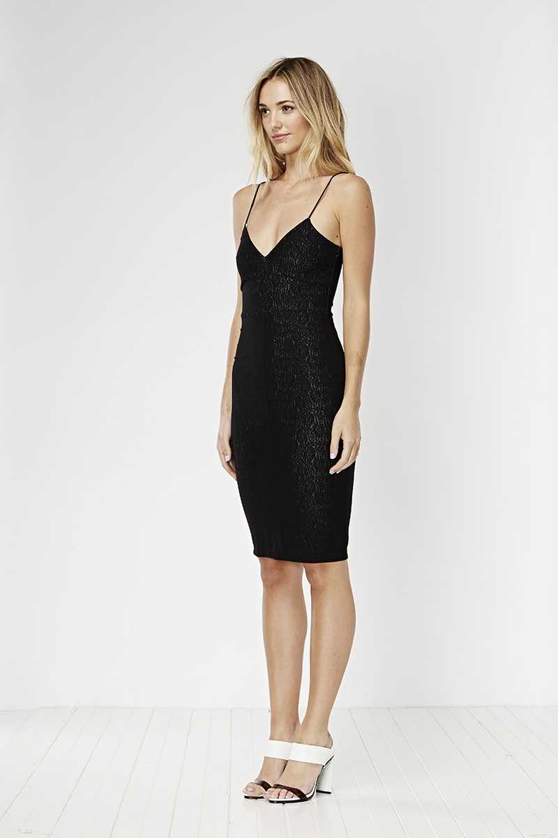 May the Label Idaho Dress Black Lace