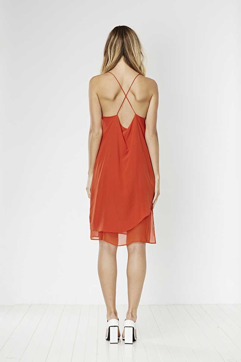 May the Label Starlet Silk Dress Chilli
