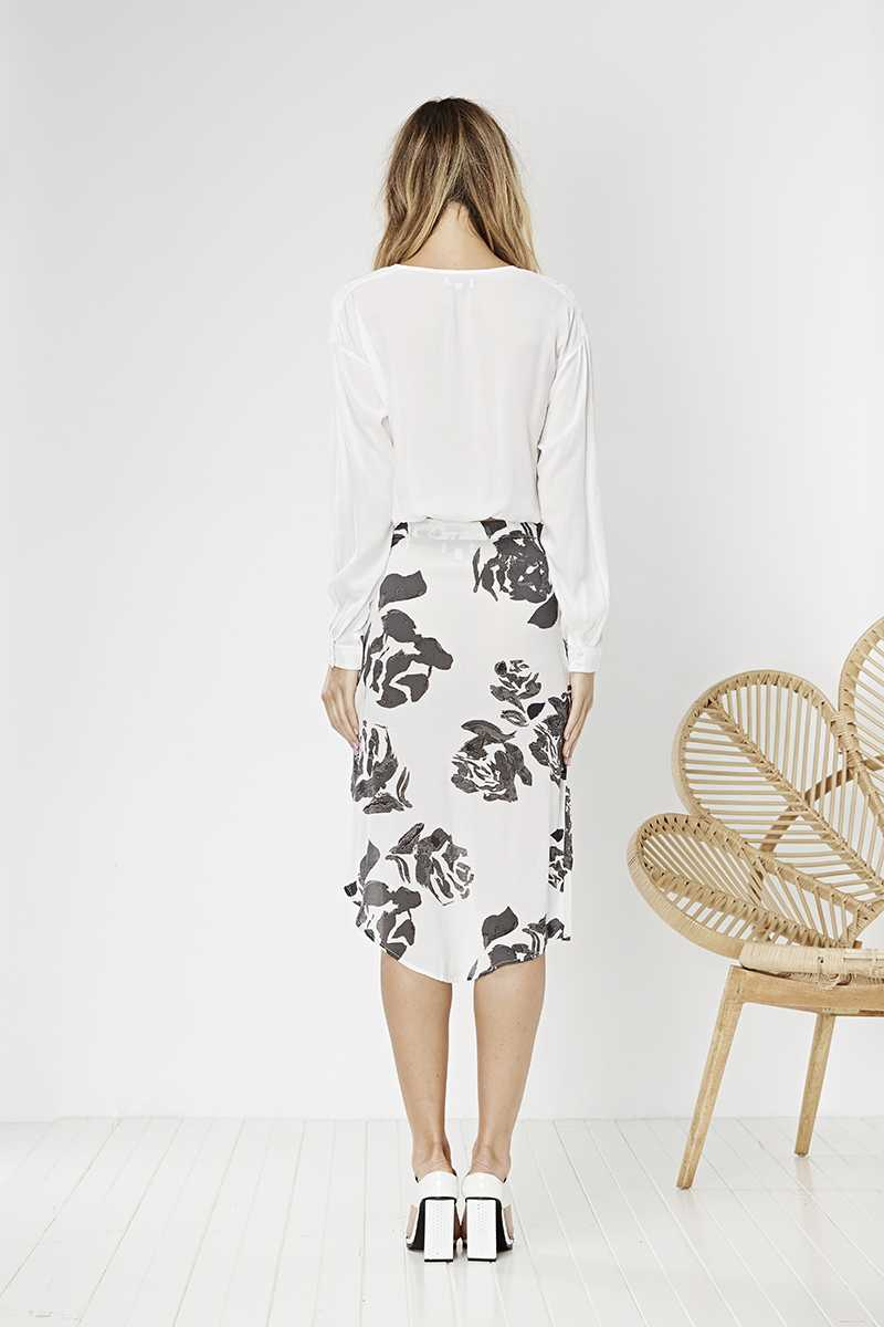 May the Label Poppy Skirt Rose Print