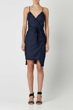 May the Label Young Love Dress Indigo Denim