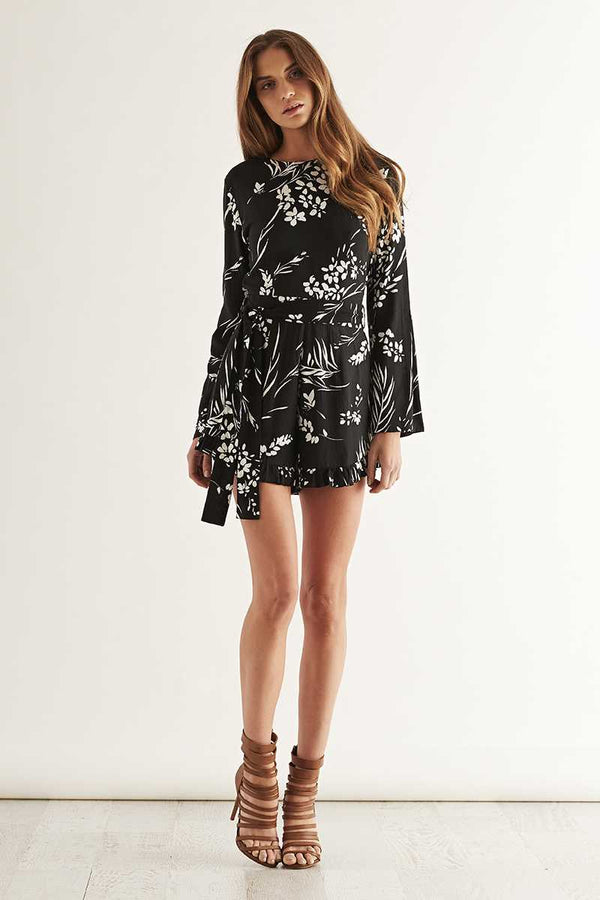 May the Label Electric LS Flared Playsuit