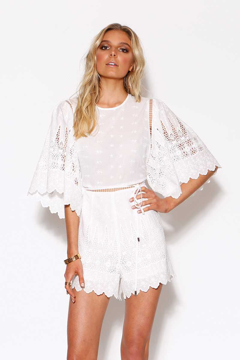 Ministry of Style Twilight Romper Ivory