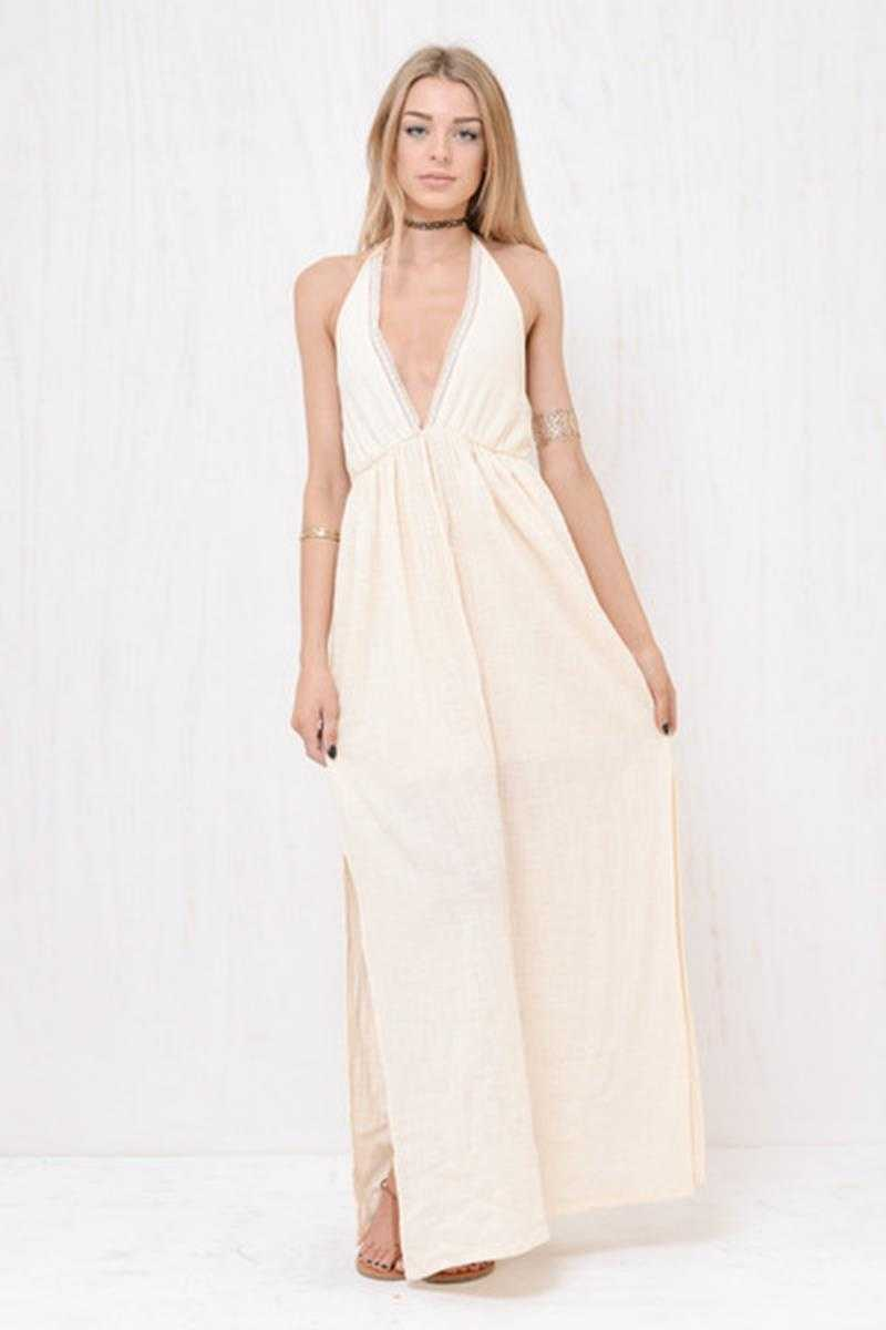 Morrisday Bohemian Savannah Boho Maxi Dress Sand