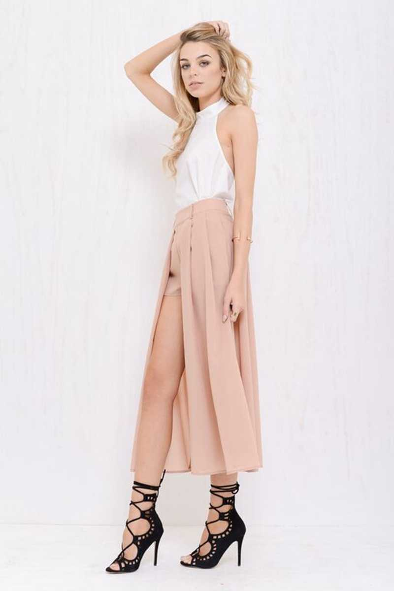Morrisday Midnight In Paris Maxi Skort Nude