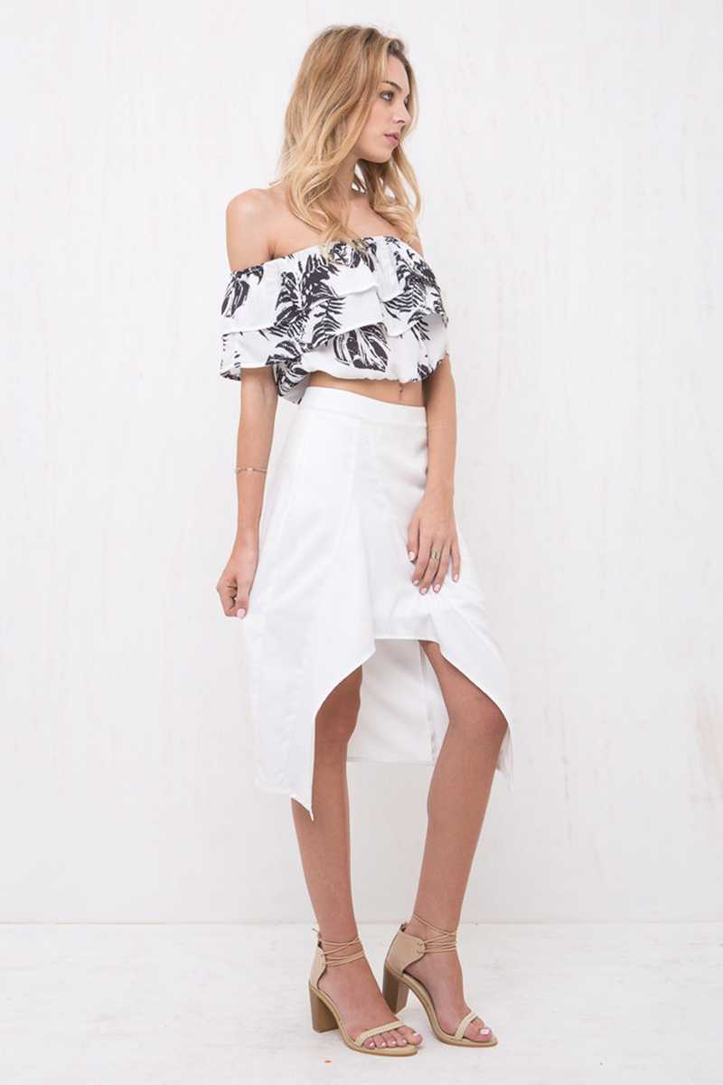 Morrisday Paradise Off Shoulder Crop