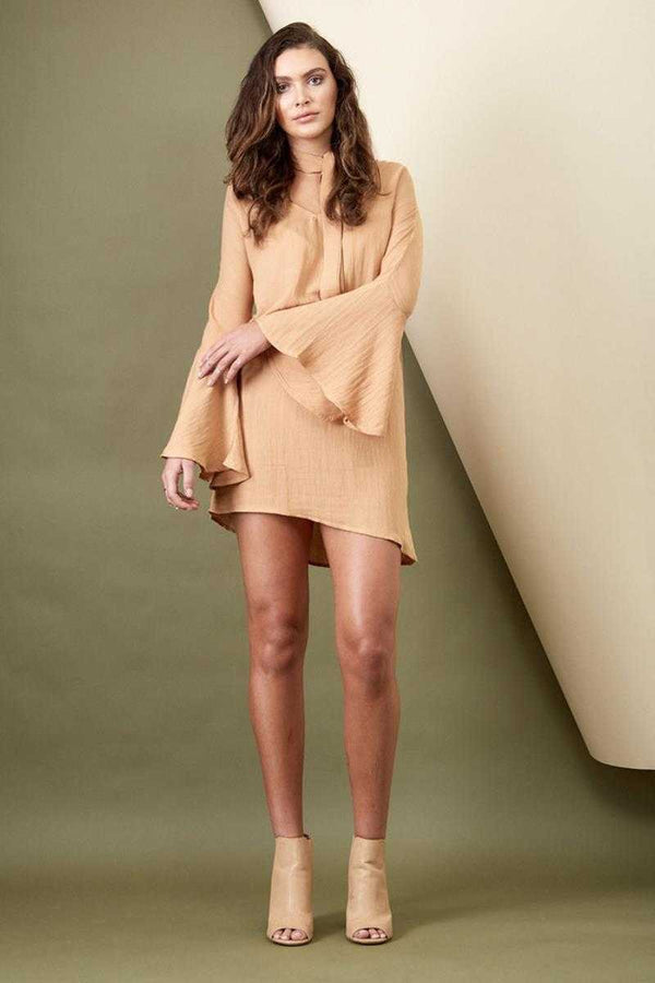 Morrisday Sienna Bell Sleeve Dress Sand
