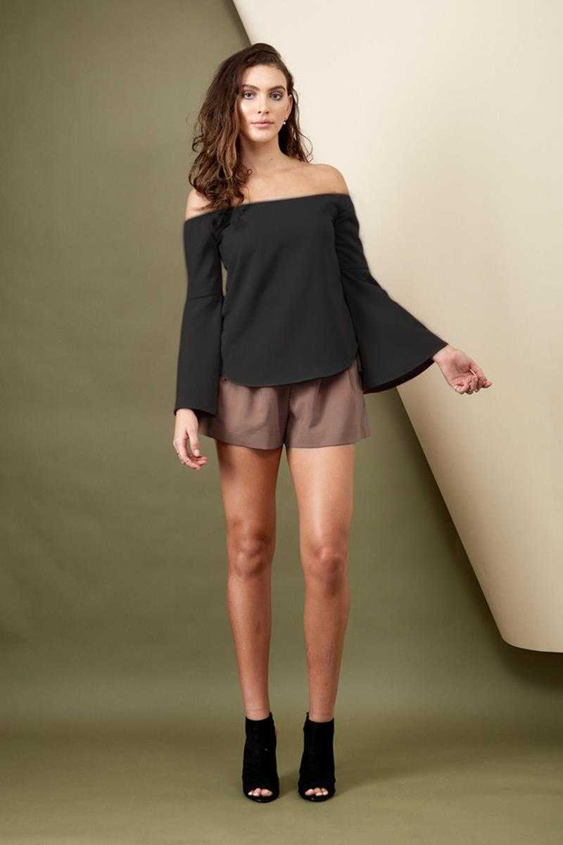 Morrisday Into the Mirage Bell Sleeve Top Black