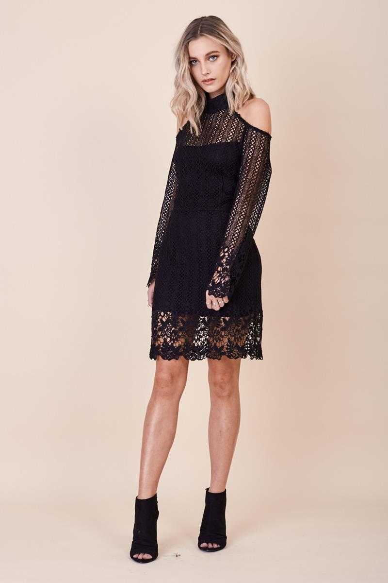 Morrisday Spellbound Lace Dress Black
