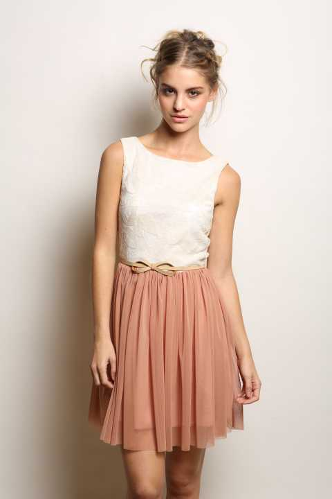 Maggie Sweet Penelope Tulle Dress with Belt