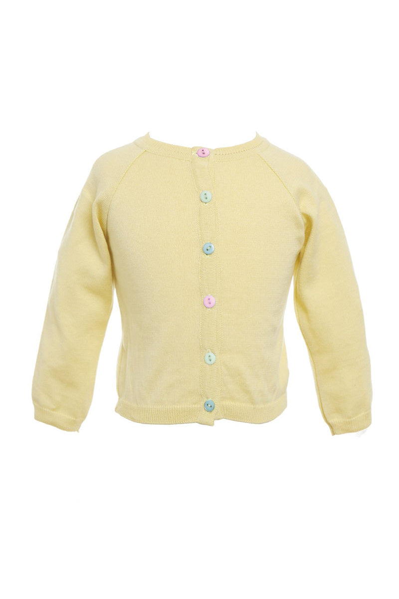 Palava Children's Classic Cardigan Lemon
