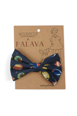 Palava Children's Bow Clip Navy Fish