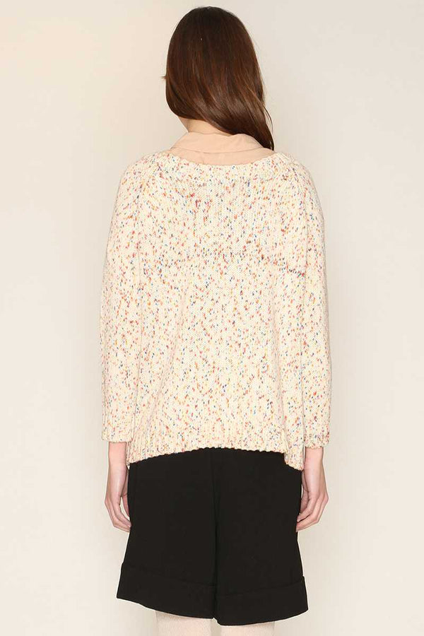 Pepaloves Textured Sweater Cream