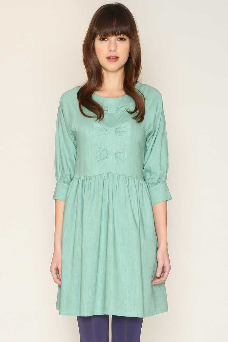 Pepaloves Katy Babydoll Dress With Bow