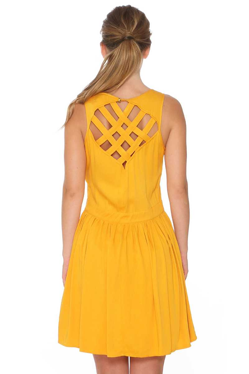 Pepaloves Lattice Skater Dress