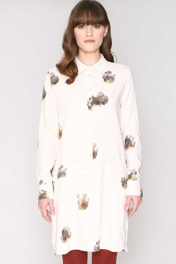 Pepaloves Melania Cactus Shirt Dress