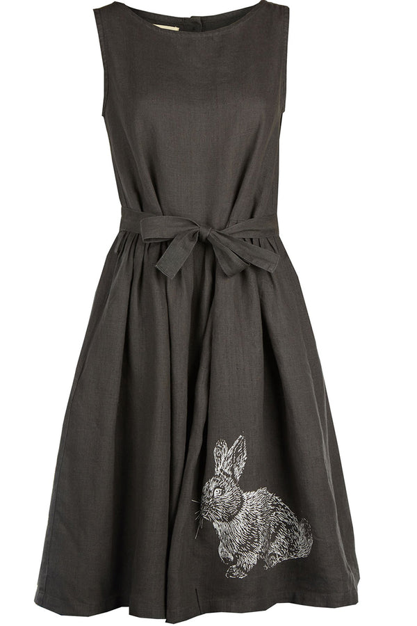 Palava Mabel Dress Charcoal Rabbit