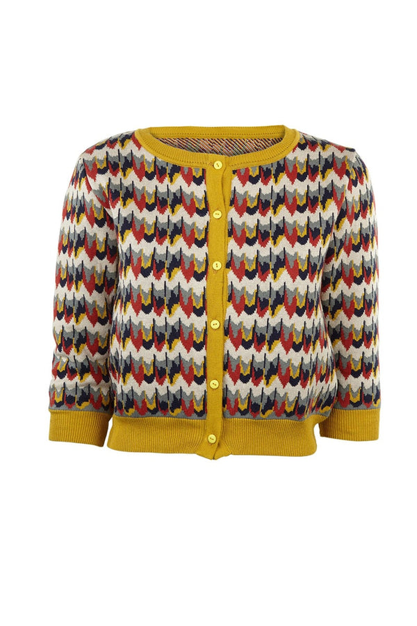 Palava Women's Classic Cardigan Marbled Feathers