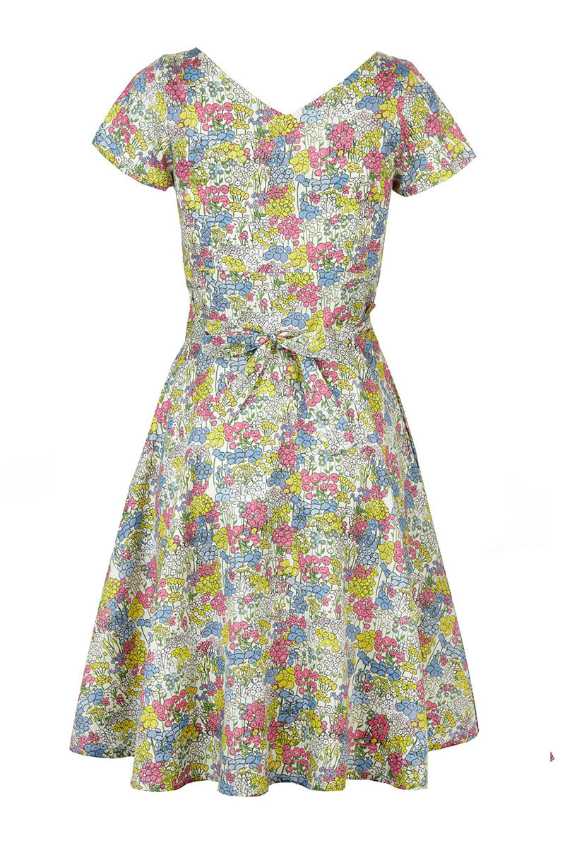Palava Irene Dress Cream Flower Garden