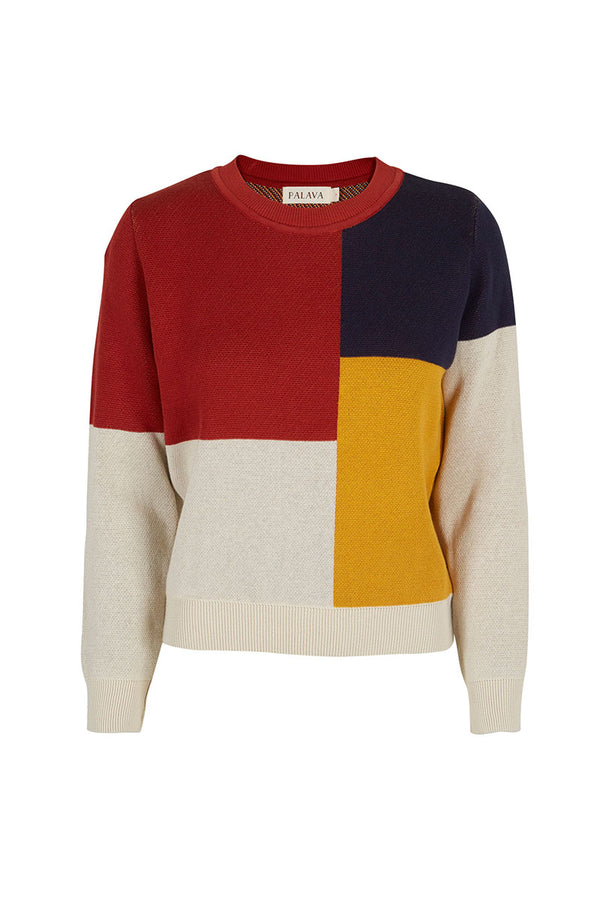 Palava Esther Multi Bauhaus Organic Cotton Jumper