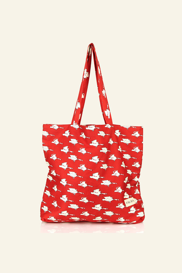 Palava Large Shopper Red Ducks