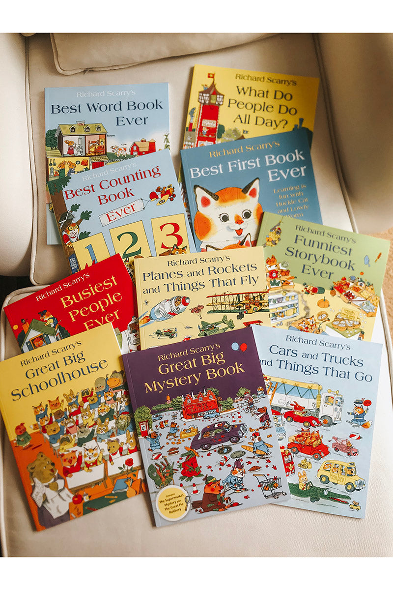 Richard Scarry Best Collection Ever 10 Books Set (ages 2+)